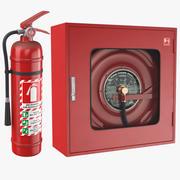 Два пожарных оборудования 3d model