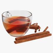 Te med kanel 3d model