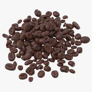 Stapel koffiebonen 02 3d model