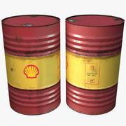 壳牌油桶(1) 3d model