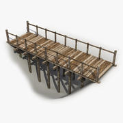 Wooden Bridge 8 3d model