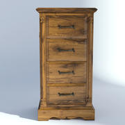Victorian Bedside Old Natural 3d model