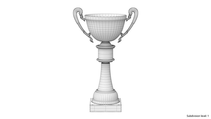 Trophy Cup royalty-free 3d model - Preview no. 8