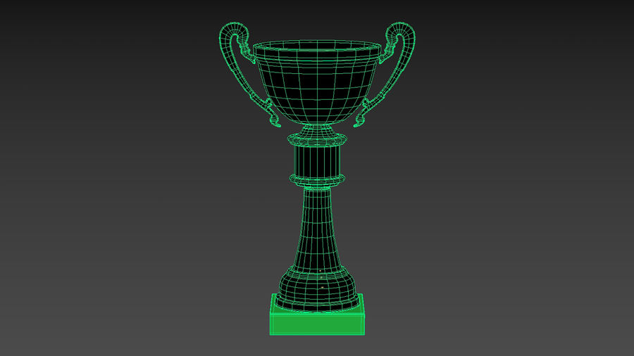 Trophy Cup royalty-free 3d model - Preview no. 15