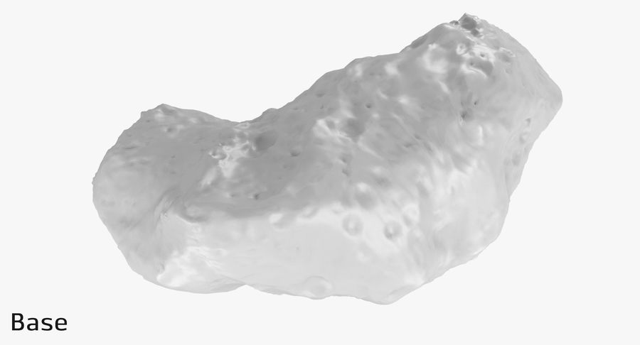 Asteroid Ida royalty-free 3d model - Preview no. 15