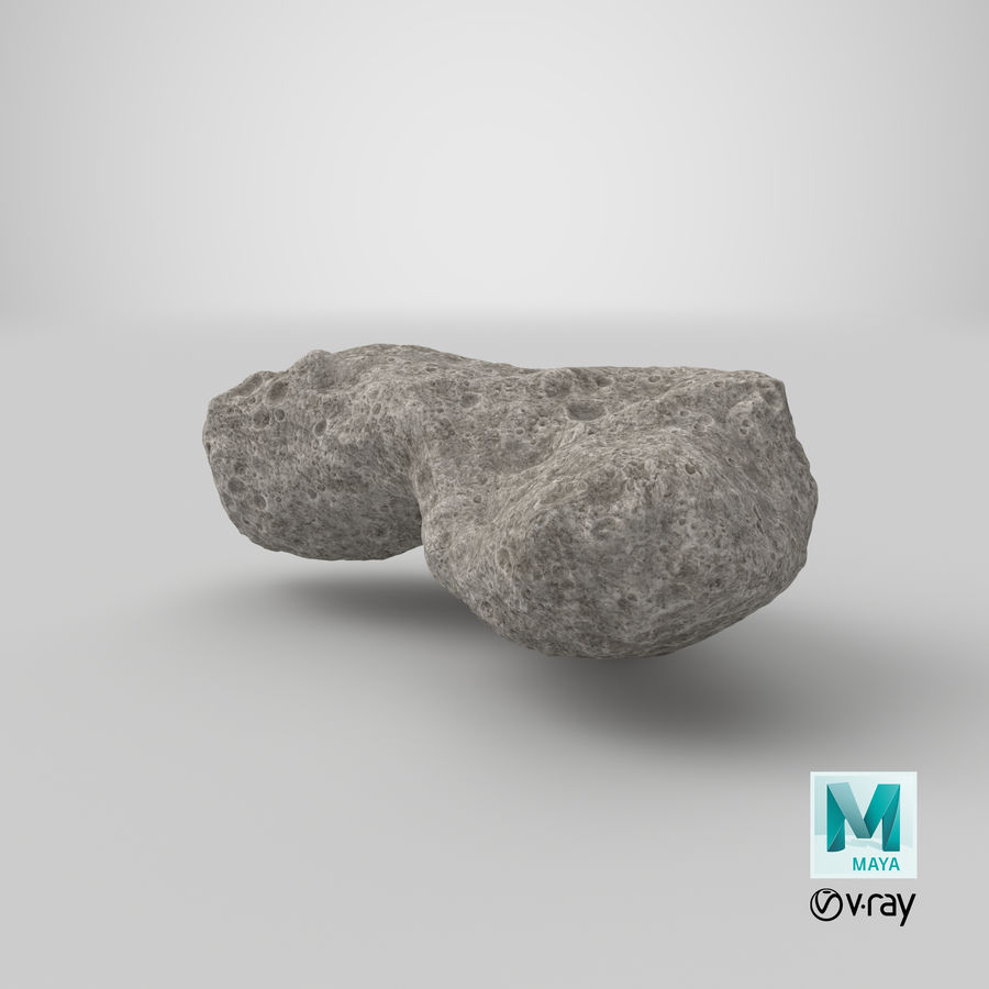 Asteroid Ida royalty-free 3d model - Preview no. 32