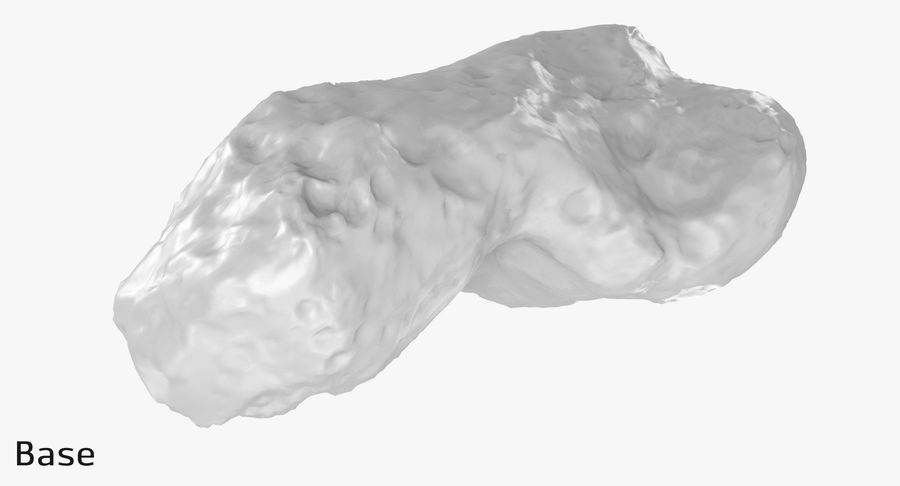 Asteroid Ida royalty-free 3d model - Preview no. 11