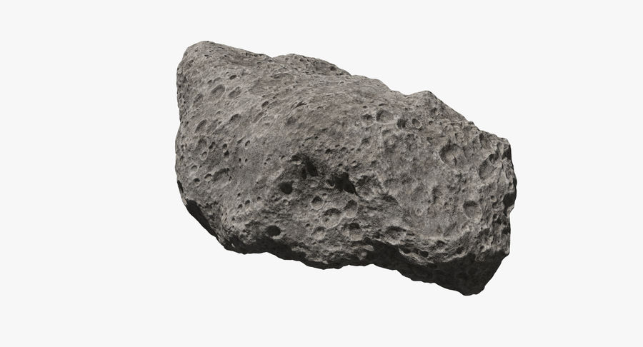 Asteroid Ida royalty-free 3d model - Preview no. 6