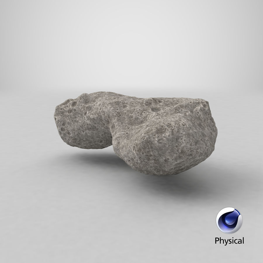 Asteroid Ida royalty-free 3d model - Preview no. 23