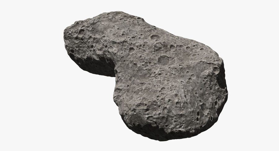 Asteroid Ida royalty-free 3d model - Preview no. 4