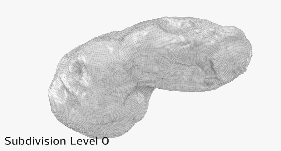 Asteroid Ida royalty-free 3d model - Preview no. 21
