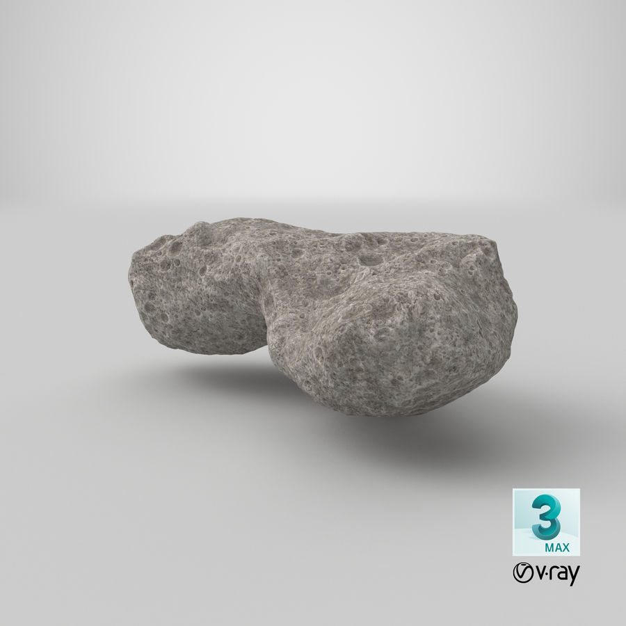 Asteroid Ida royalty-free 3d model - Preview no. 29