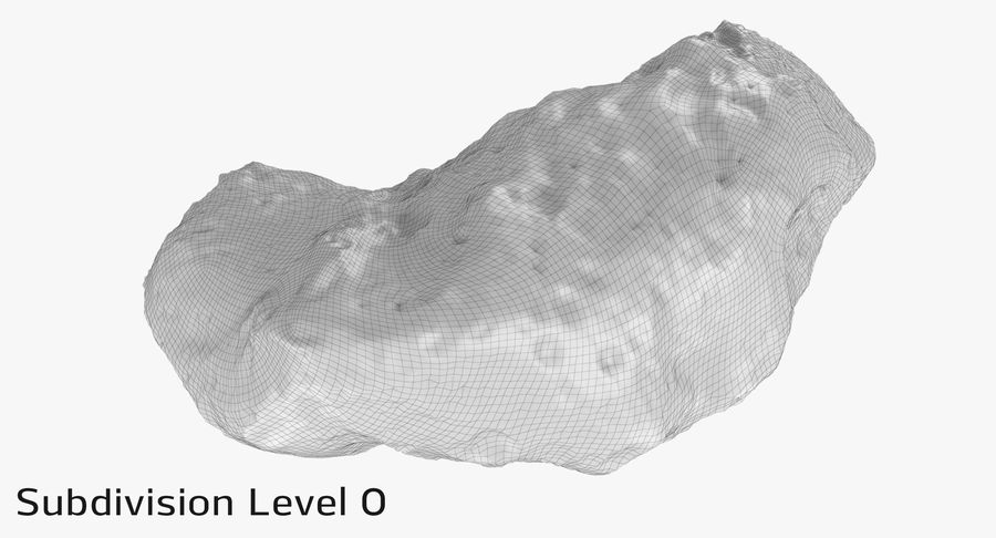 Asteroid Ida royalty-free 3d model - Preview no. 17