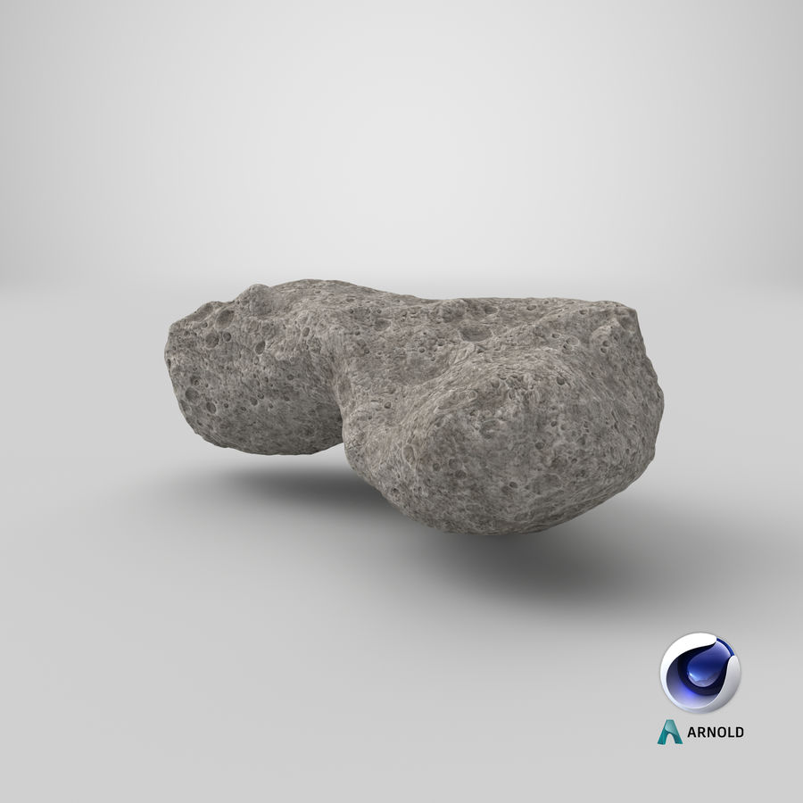 Asteroid Ida royalty-free 3d model - Preview no. 24