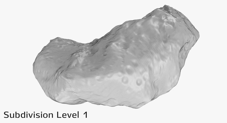 Asteroid Ida royalty-free 3d model - Preview no. 18