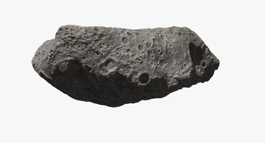 Asteroid Ida royalty-free 3d model - Preview no. 5