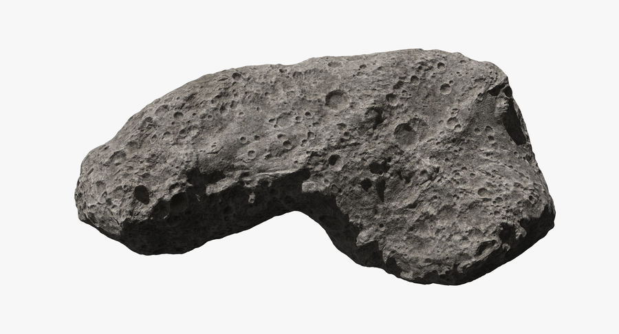 Asteroid Ida royalty-free 3d model - Preview no. 7