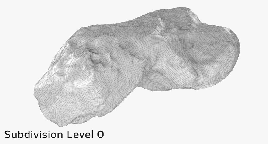 Asteroid Ida royalty-free 3d model - Preview no. 13