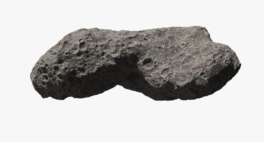 Asteroid Ida royalty-free 3d model - Preview no. 3