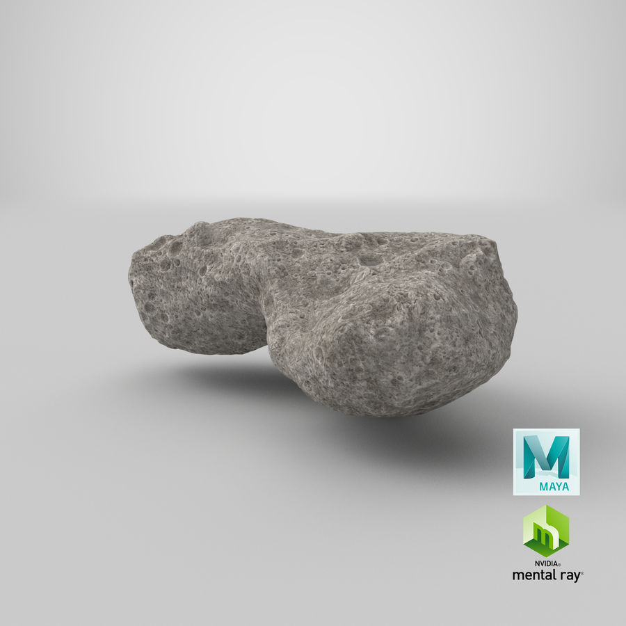 Asteroid Ida royalty-free 3d model - Preview no. 31