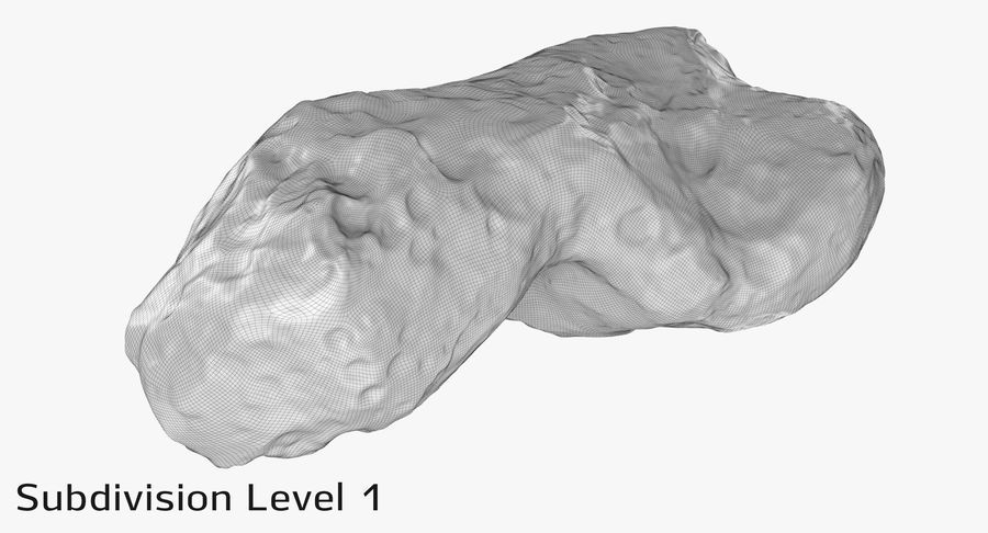 Asteroid Ida royalty-free 3d model - Preview no. 14