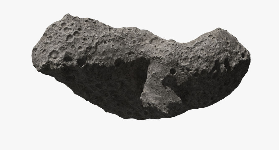 Asteroid Ida royalty-free 3d model - Preview no. 8