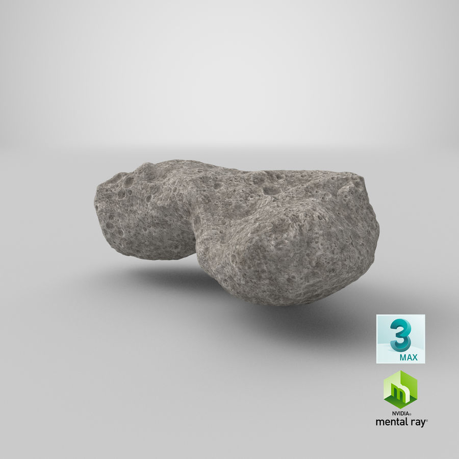 Asteroid Ida royalty-free 3d model - Preview no. 28
