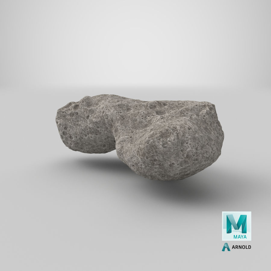 Asteroid Ida royalty-free 3d model - Preview no. 30