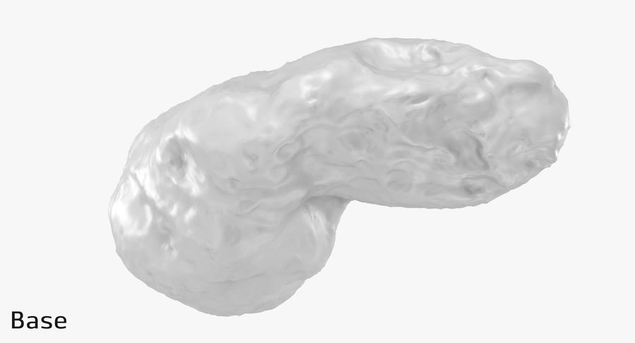 Asteroid Ida royalty-free 3d model - Preview no. 19