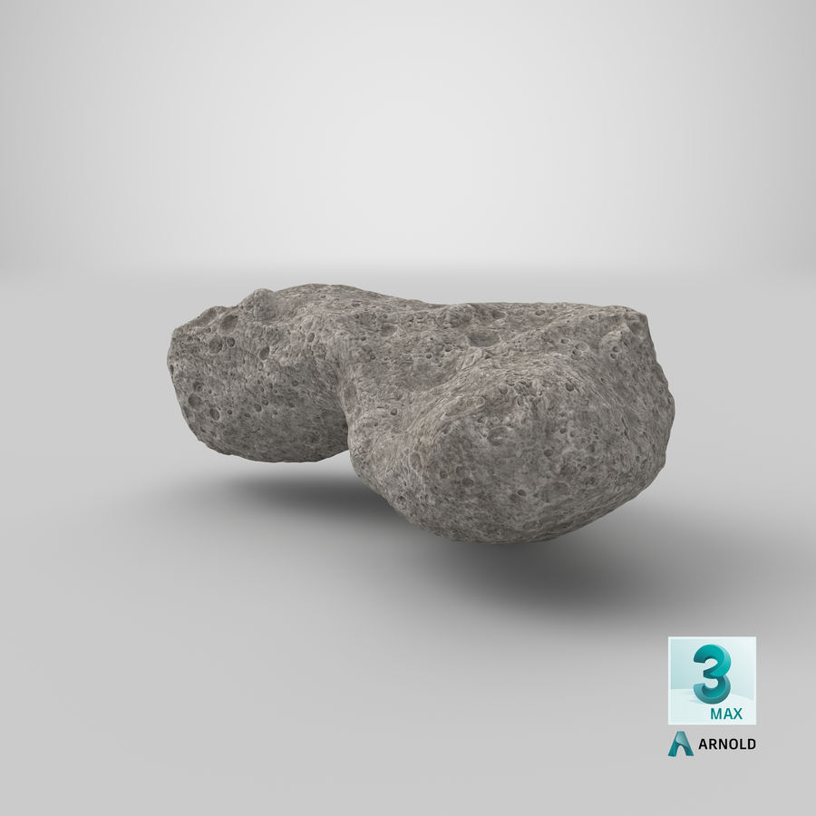 Asteroid Ida royalty-free 3d model - Preview no. 27