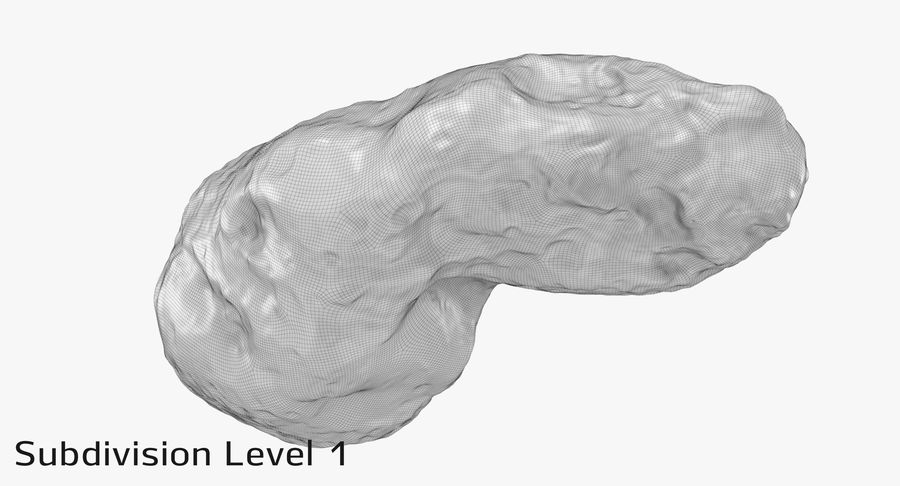 Asteroid Ida royalty-free 3d model - Preview no. 22