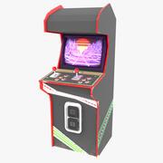 Retro Arcade Cabinet 3d model