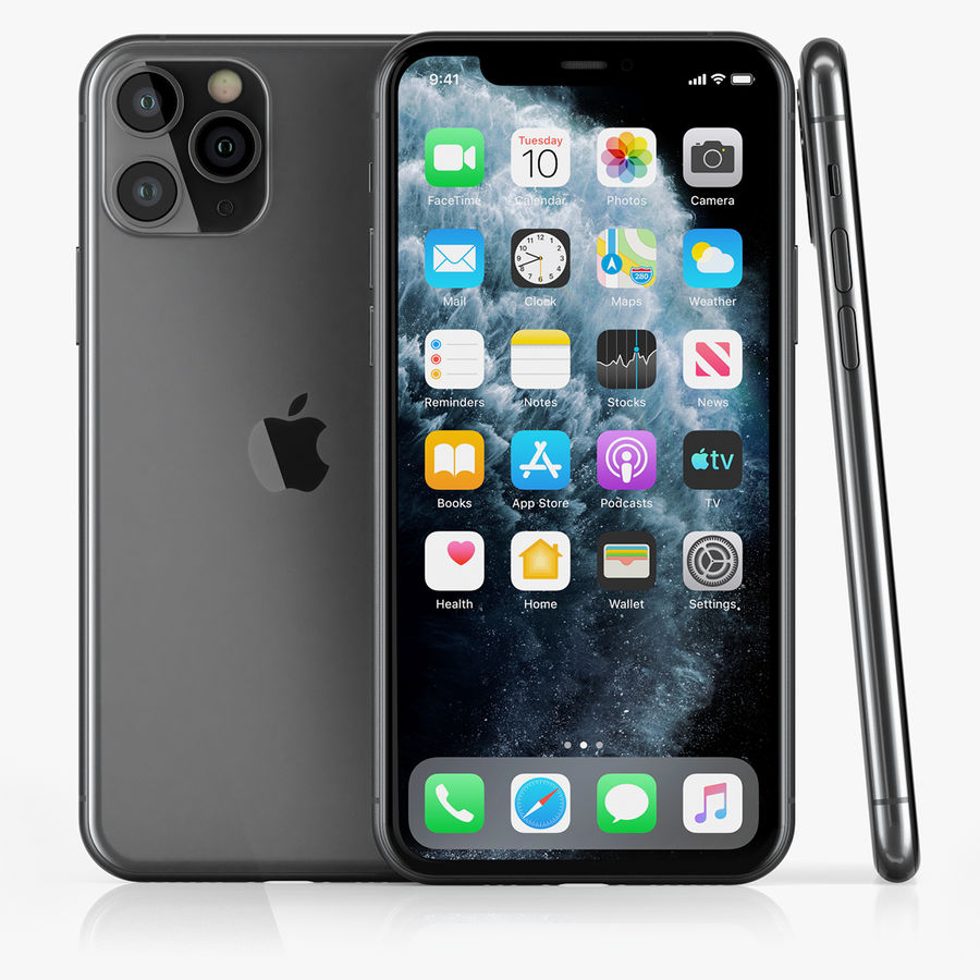 iPhone 11 Pro royalty-free 3d model - Preview no. 1