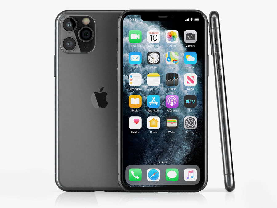 iPhone 11 Pro royalty-free 3d model - Preview no. 2