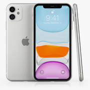 iPhone 11 White and Black 3d model