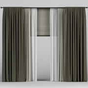 Curtains with Roman 3d model