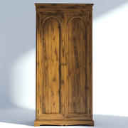 Victorian Wardrobe Old Natural 3d model