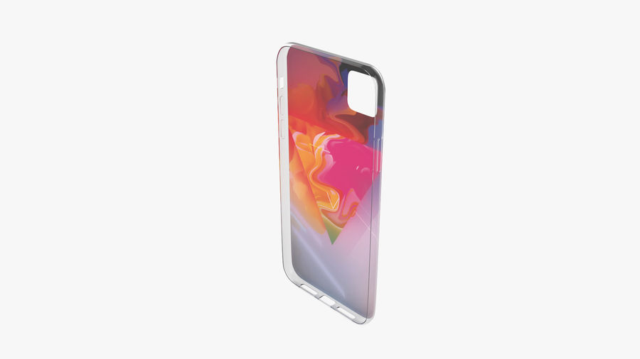 Custodia per iPhone 11 royalty-free 3d model - Preview no. 7