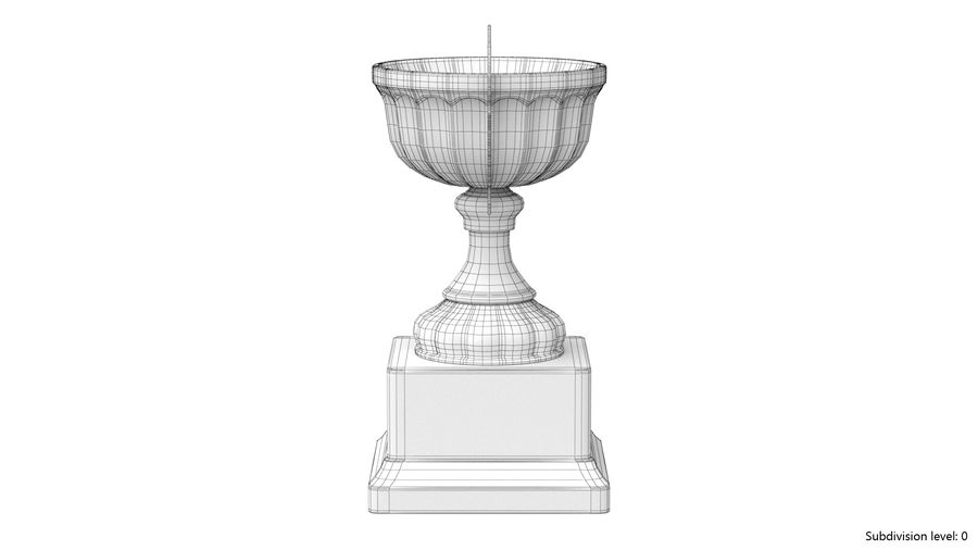 Trophy Cup 2 royalty-free 3d model - Preview no. 13