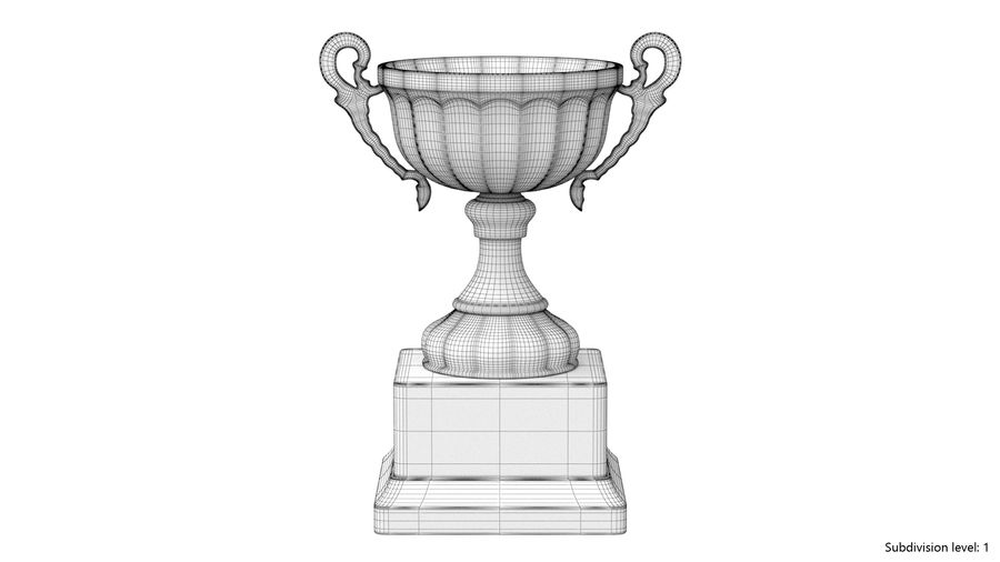 Trophy Cup 2 royalty-free 3d model - Preview no. 8