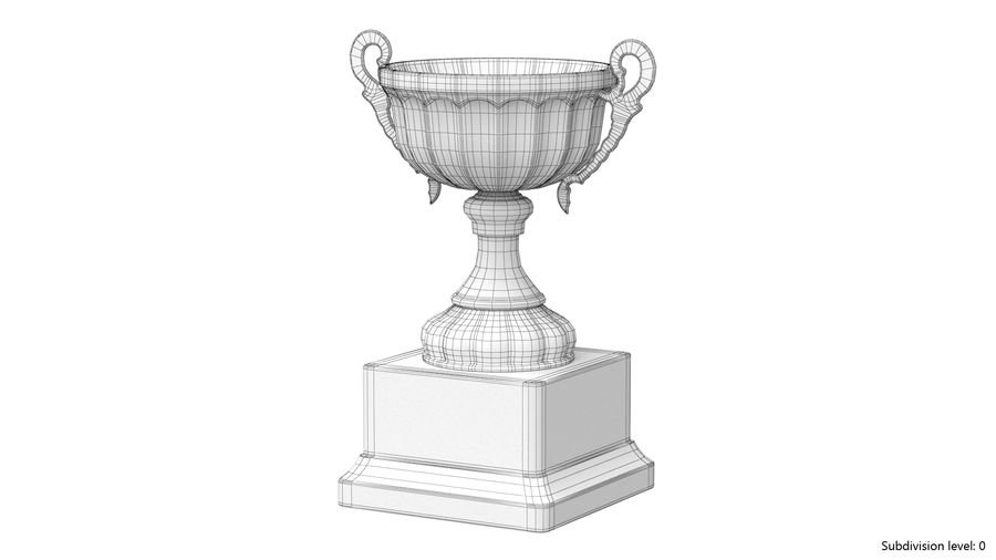 Trophy Cup 2 royalty-free 3d model - Preview no. 11