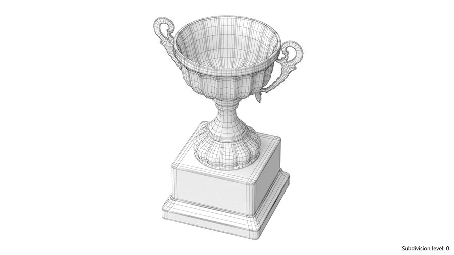 Trophy Cup 2 royalty-free 3d model - Preview no. 9
