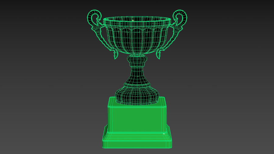 Trophy Cup 2 royalty-free 3d model - Preview no. 15
