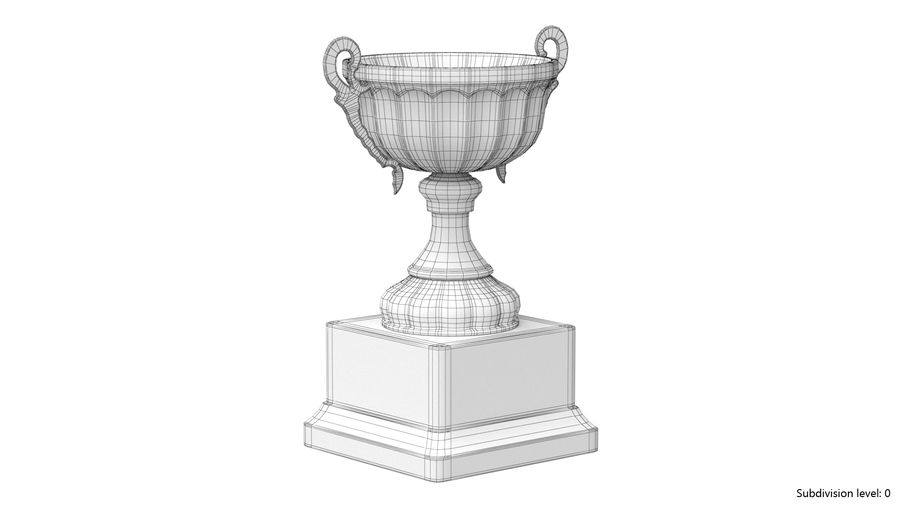 Trophy Cup 2 royalty-free 3d model - Preview no. 12