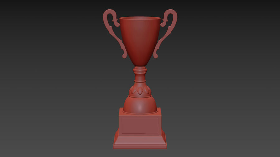 Trophy Cup 5 royalty-free 3d model - Preview no. 14