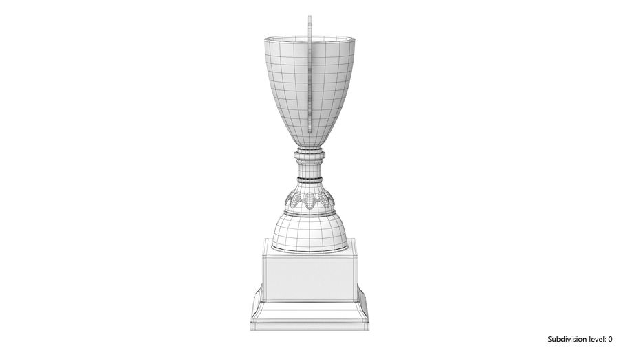 Trophy Cup 5 royalty-free 3d model - Preview no. 13