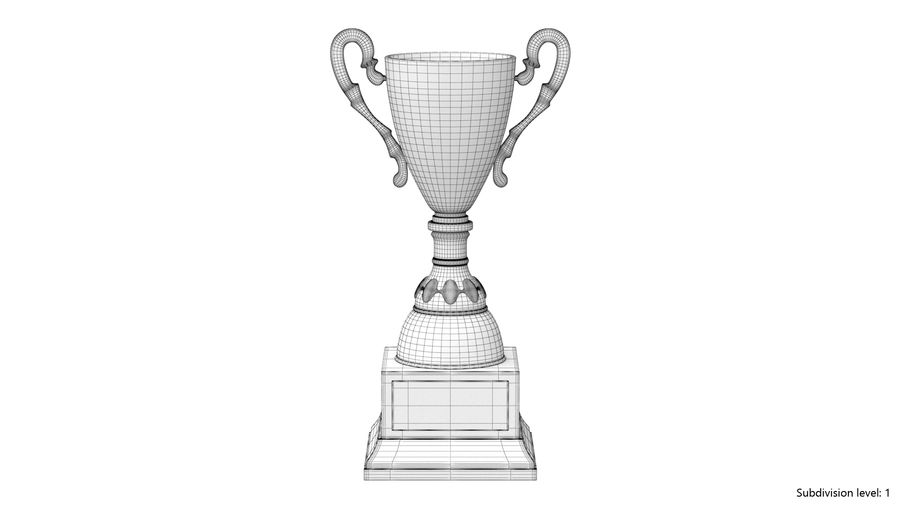 Trophy Cup 5 royalty-free 3d model - Preview no. 8