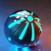 Esfera de alta tecnología modelo 3d