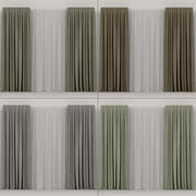 A series of curtains 3d model