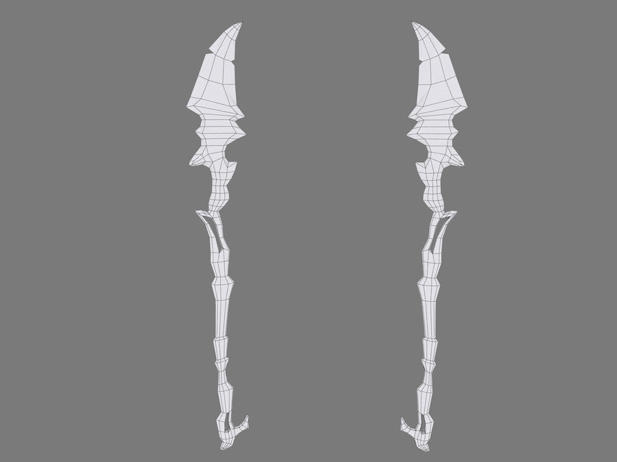 Icy Spear royalty-free 3d model - Preview no. 7